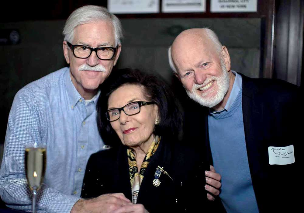 With Jack Covert, Frances Hasselbein, and Marshall Goldsmith