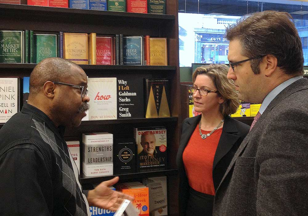 With Barnes & Noble's Cal Hunter and Nicco Mele